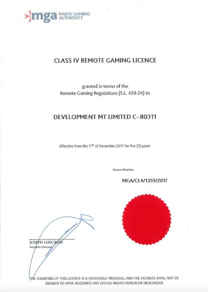 MGA Licence class 4